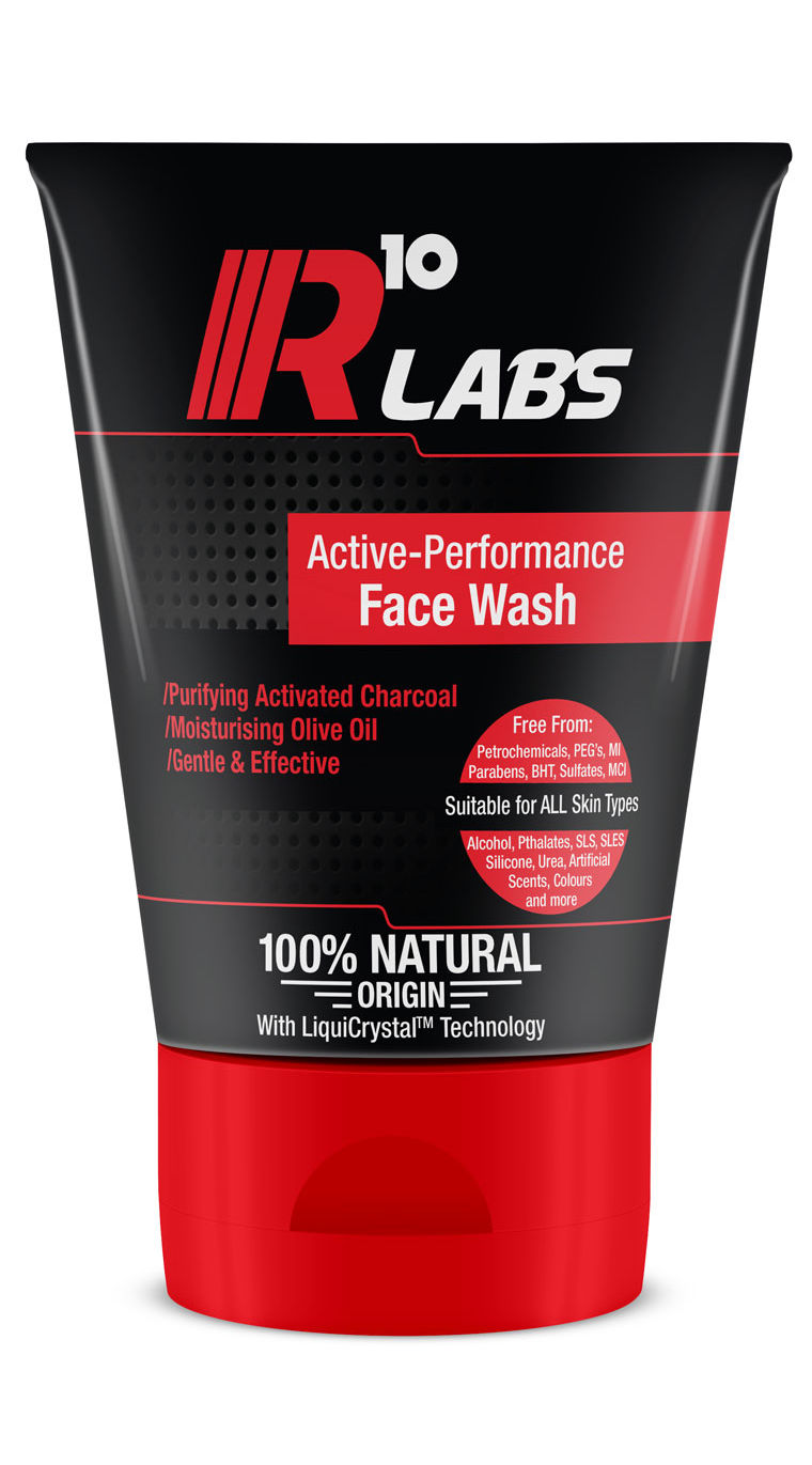 R10 Labs Active-Performance Carbon Face Wash