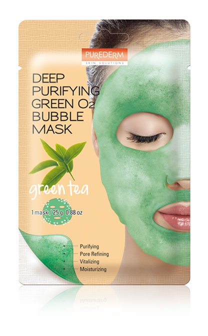 PUREDERM Deep Purifying Green Tea 02 Bubble Mask