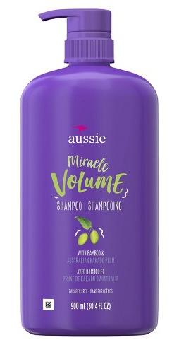 Aussie Miracle Volume Shampoo For Fine Hair, Plum & Bamboo
