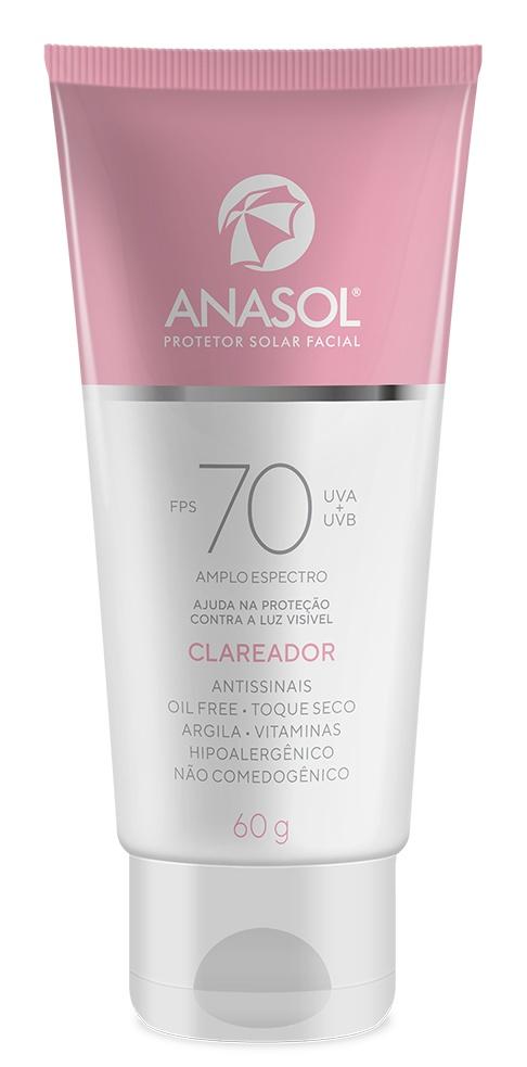 Anasol Protetor Solar Facial Clareador SPF 70
