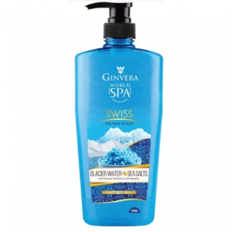 Ginvera World Spa Glacier Water And Sea Salt Shower Scrub