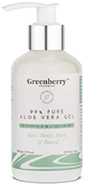 Greenberry  Pure Aloe Vera Gel With Vitamin E And Liquorice