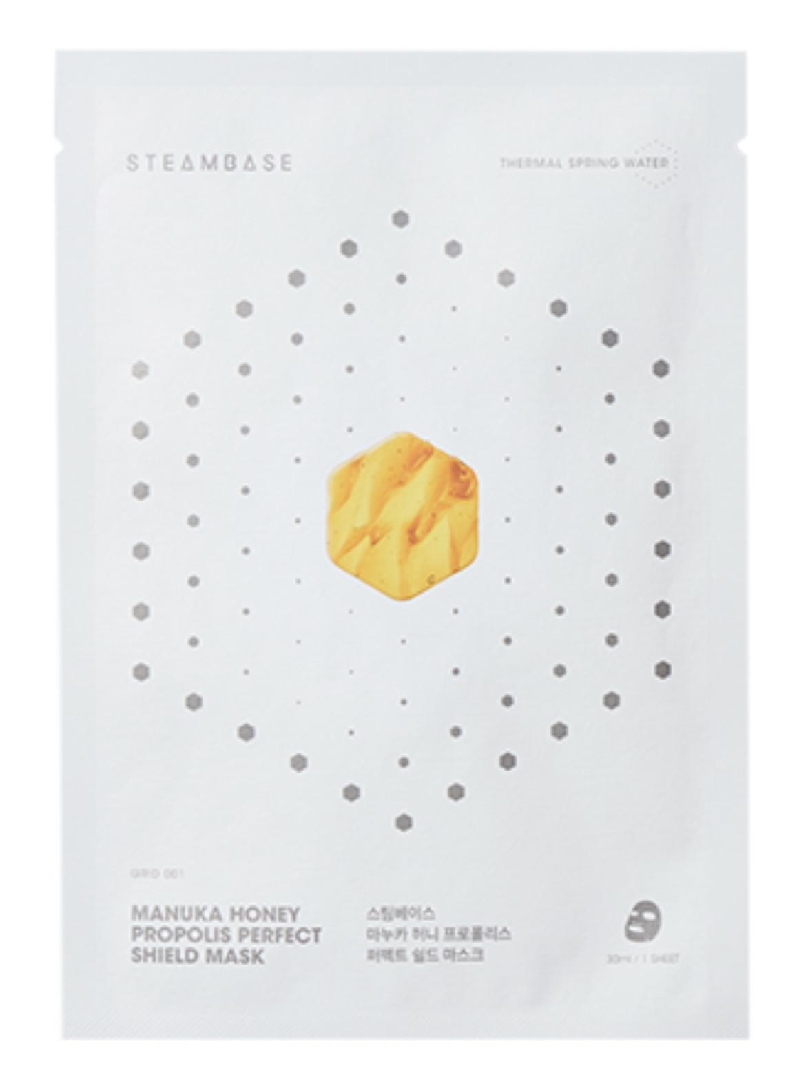 STEAMBASE Manuka Honey Propolis Perfect Shield Mask