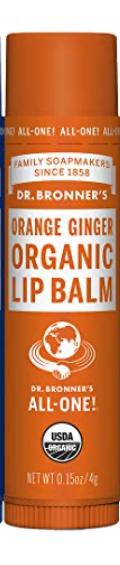 Dr Bronner Organic Lip Balm - Orange Ginger