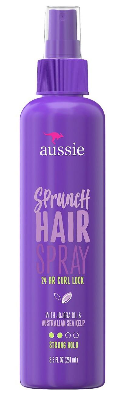 Aussie Sprunch Non-aerosol Hairspray With Jojoba Oil & Sea Kelp For Curly Hair