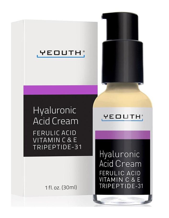Yeouth Hyaluronic Acid Cream With Vitamin C, Vitamin E, Ferulic Acid, Tripeptide 31