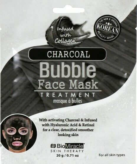 BioMiracle Skin Therapy Charcoal Bubble Face Mask Treatment