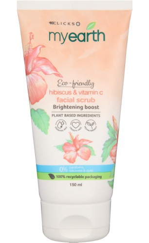 Clicks Myearth Hibiscus & Vitamin C Brightening Boost Cleansing Face Wash