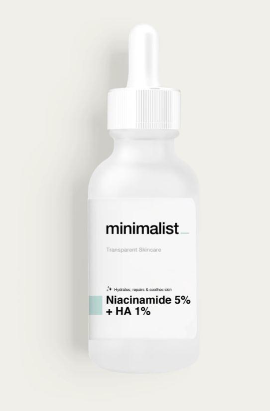 Be Minimalist Niacinamide 5% + Hyaluronic Acid 1%