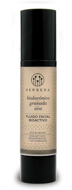 Herbera Crema Hidratante Antiarrugas Á. Hialurónico, Granada y uva