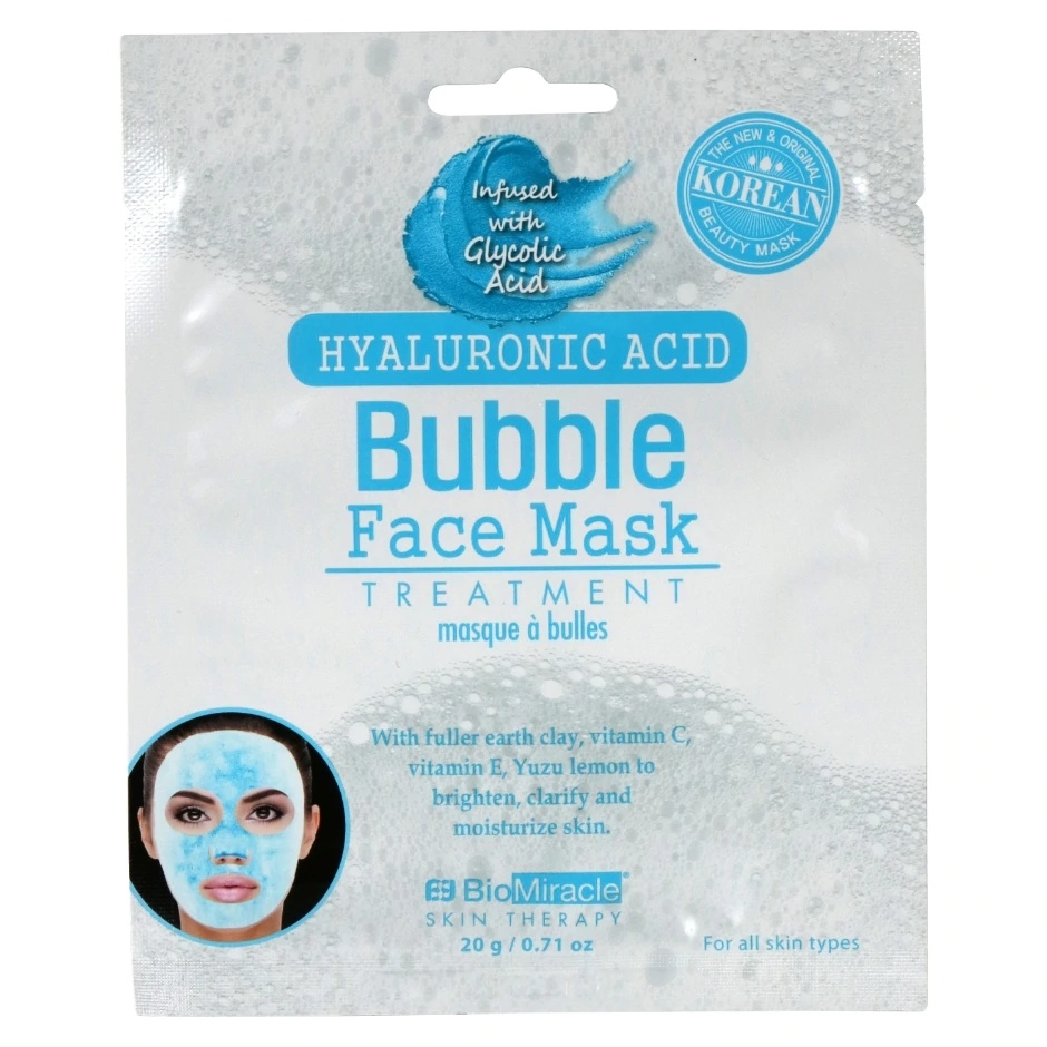 BioMiracle Skin Therapy Hyaluronic Acid Bubble Face Mask Treatment