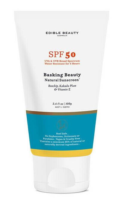Edible Beauty Basking Beauty Natural Sunscreen Spf50