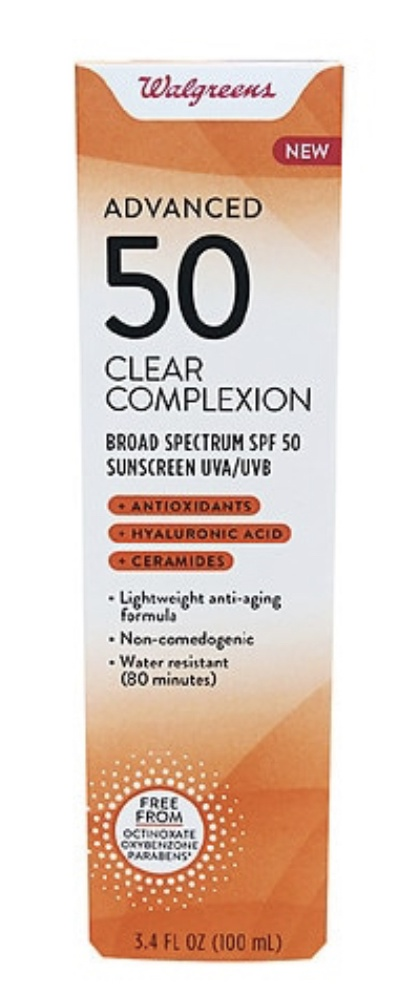 Walgreens Advanced 50Spf Clear Complexion