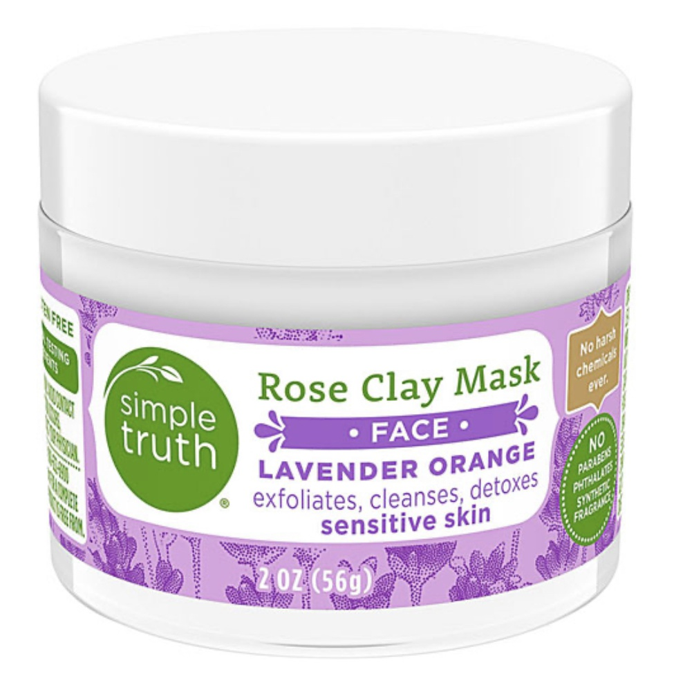 Simple Truth Rose Clay Lavender And Orange Face Mask