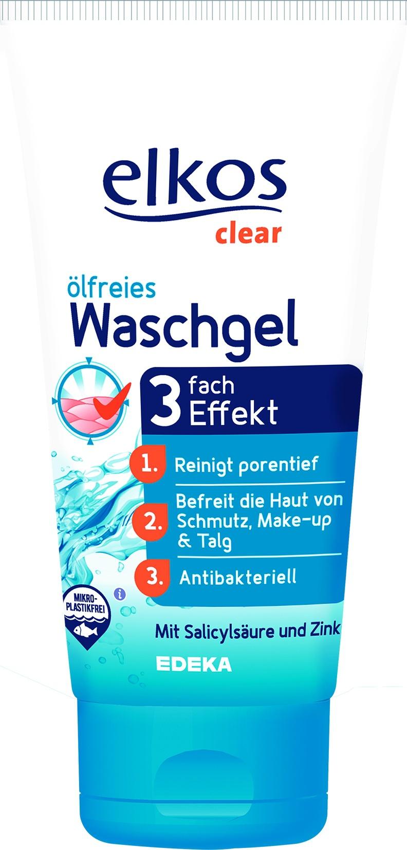 Elkos Oil Free Wash Gel (3 Fach Effekt)