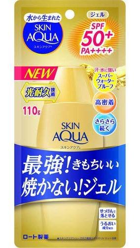 Rohto Skin Aqua Uv Super Moisture Gel Gold Spf 50+ Pa++++ (2/2020 Formula)