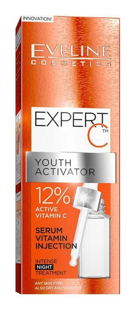 Eveline Expert C Youth Activator Serum Vitamin Injection Night