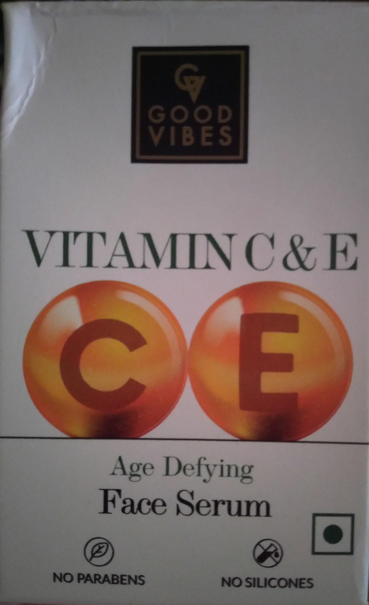 Good Vibes New Vitamin C And E Face Serum (White Box)