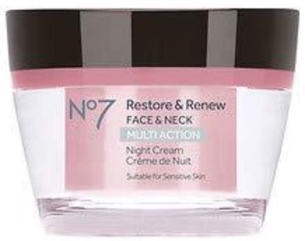 Boots No7 Restore And Renew, Face And Neck, Night Cream