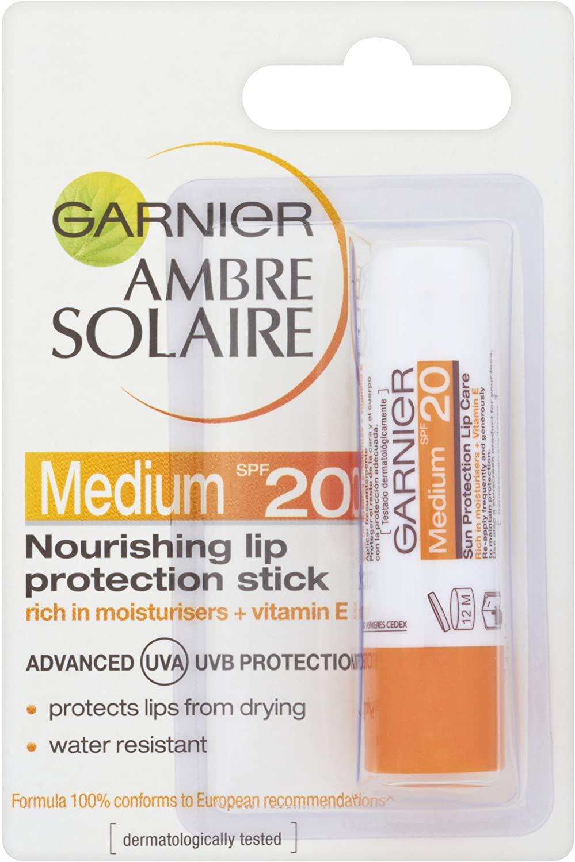 Garnier Ambre Solaire Lip Balm Sun Protection Stick Spf20