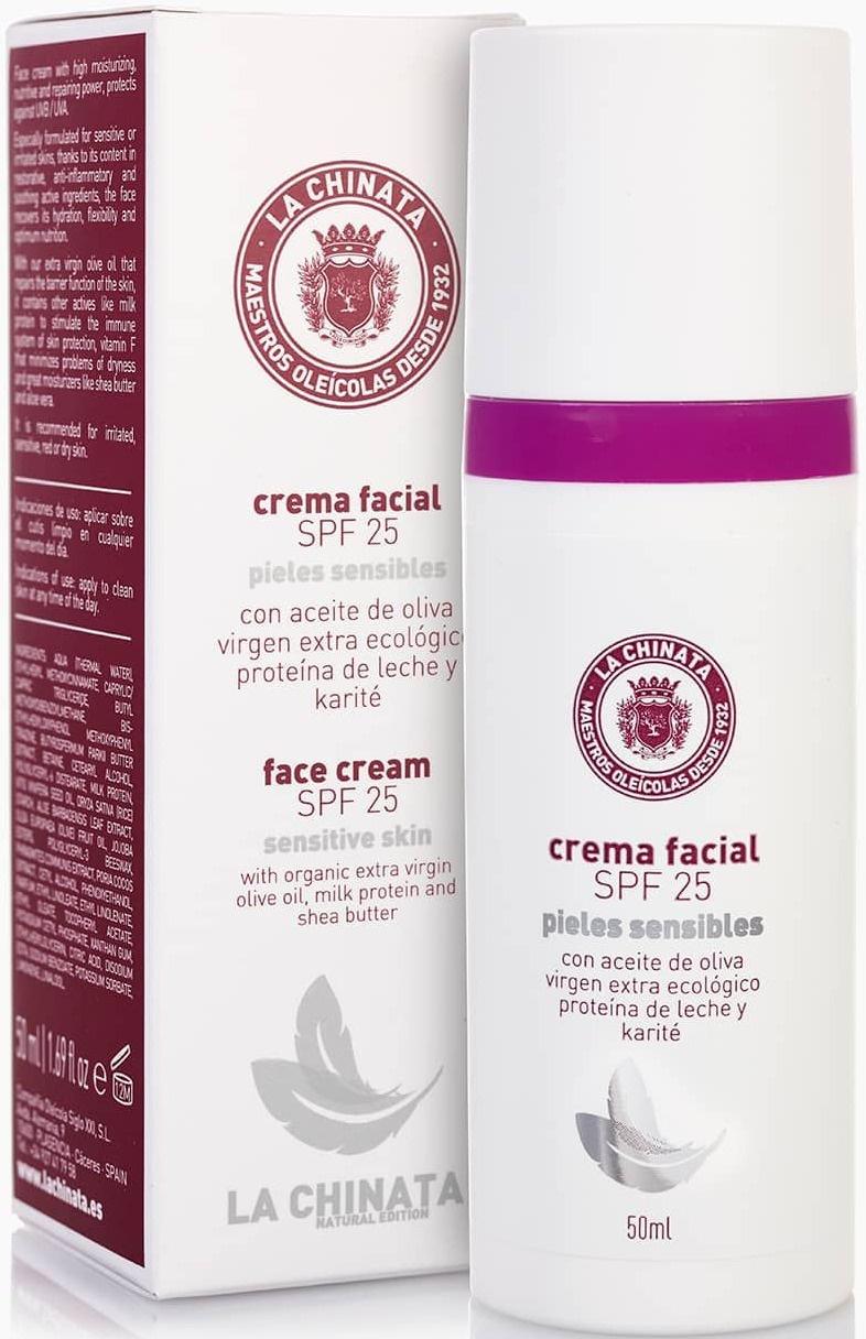 La Chinata Crema Facial SPF25 Pieles Sensibles