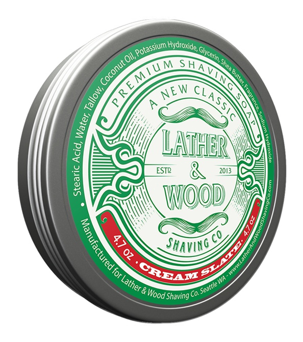 Lather & Wood Shaving Soap Shaving Soap -Woodsy Scent