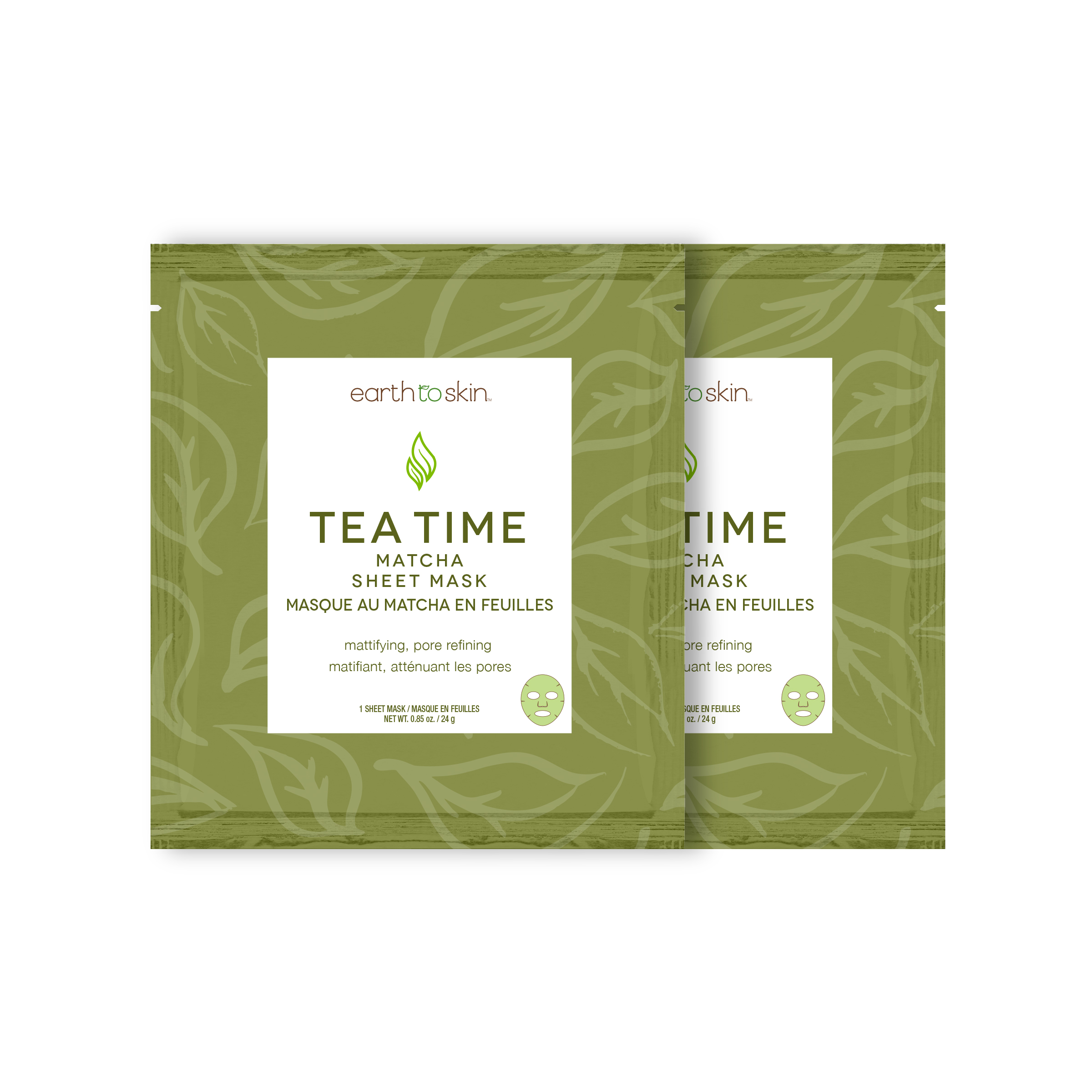 Earth To Skin Tea Time Matcha Sheet Mask