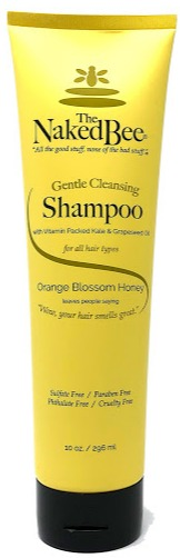 The Naked Bee Gentle Cleansing Shampoo For All Hair Types, Orange Blossom Honey