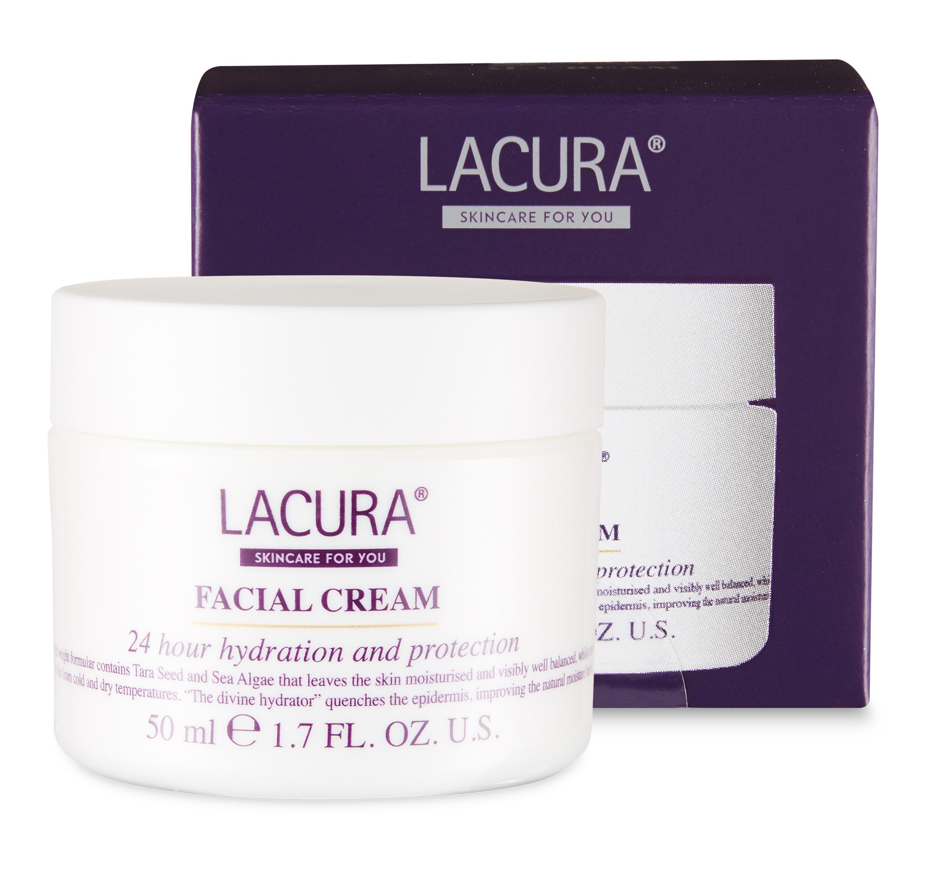 LACURA Facial Cream 24 Hour Hydration And Protection