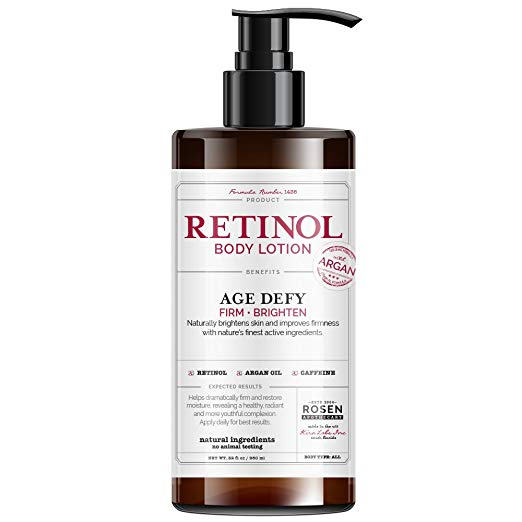 Rosen Apothecary Anti-Aging Retinol Body Lotion - Age Defy - Body Firms & Brightens