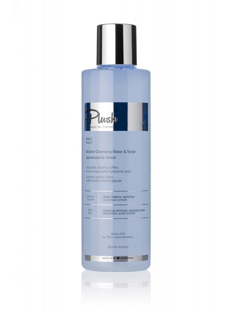 Plush Bio Micellar & Tonic Water With Coffee, Azulene And Microencapsulated Hyaluronic Acid