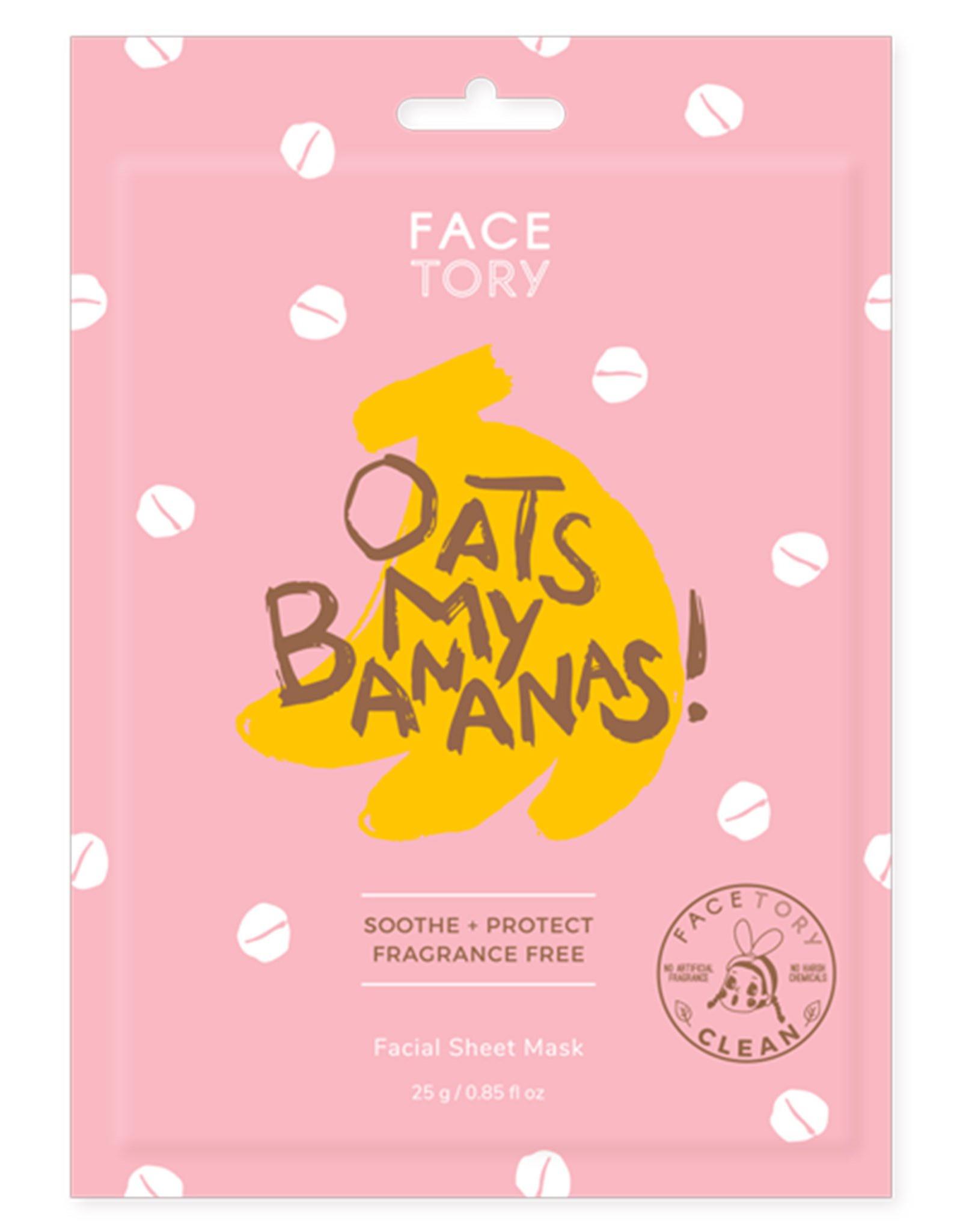 Facetory Oats My Bananas Facial Sheet Mask