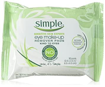 Simple Sensitive Skin Experts Eye Makeup Remover Wipes