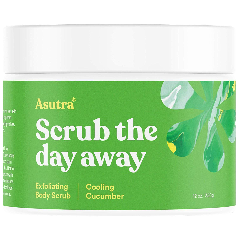 asutra Scrub The Day Away Exfoliating Cucumber Body Scrub