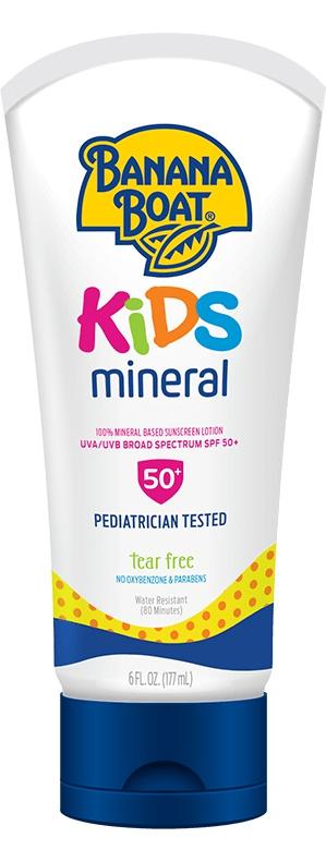 Banana Boat Kids Mineral Sunscreen Lotion - Spf 50+