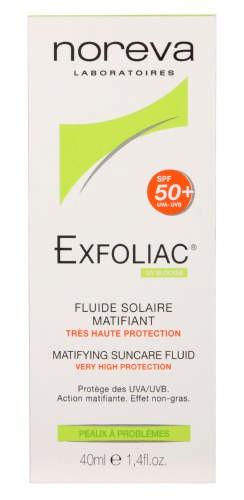 Noreva Exfoliac Spf50+ Matifying Suncare Fluid