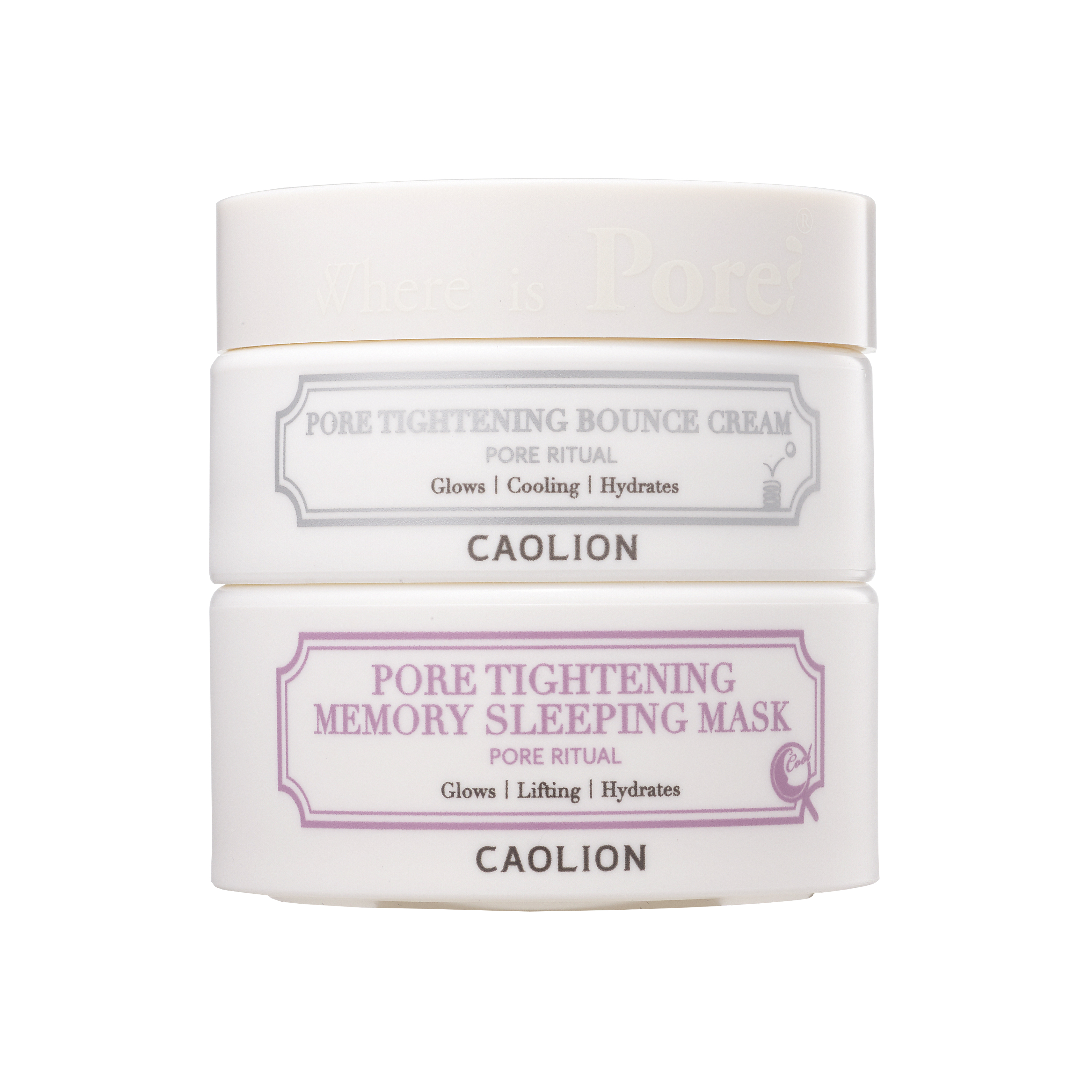 Caolion Pore Tightening Day & Night Glow Duo (Memory Sleeping Mask)