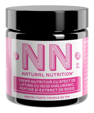 Natural Nutrition Cosmetics Nourishing Cream Lifting Effect With Hyaluronic Acid, Peptides And Pomegranate Extract