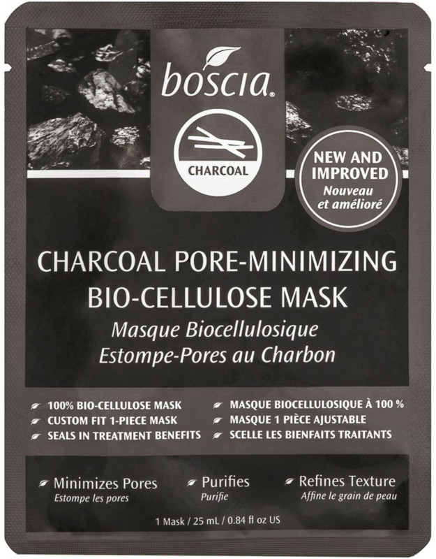 BOSCIA Charcoal Pore-Minimizing Bio-Cellulose Mask