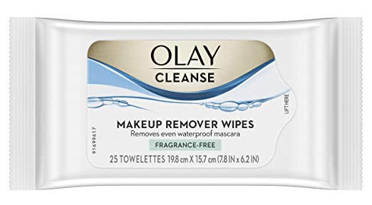 Olay Cleanse Makeup Remover Wipes, Fragrance Free