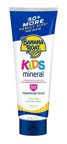 Banana Boat Baby Tear Free Sunscreen Lotion Spf 50+ Pa++++