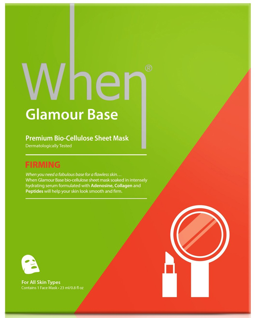 When Beauty Firming Glamour Base Premium Bio-cellulose Facial Sheet Mask