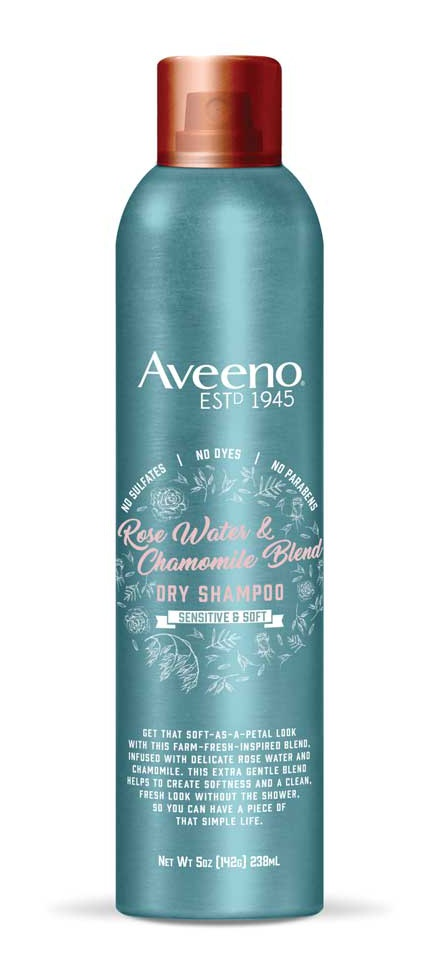 Aveeno Rose Water And Chamomile Blend Dry Shampoo