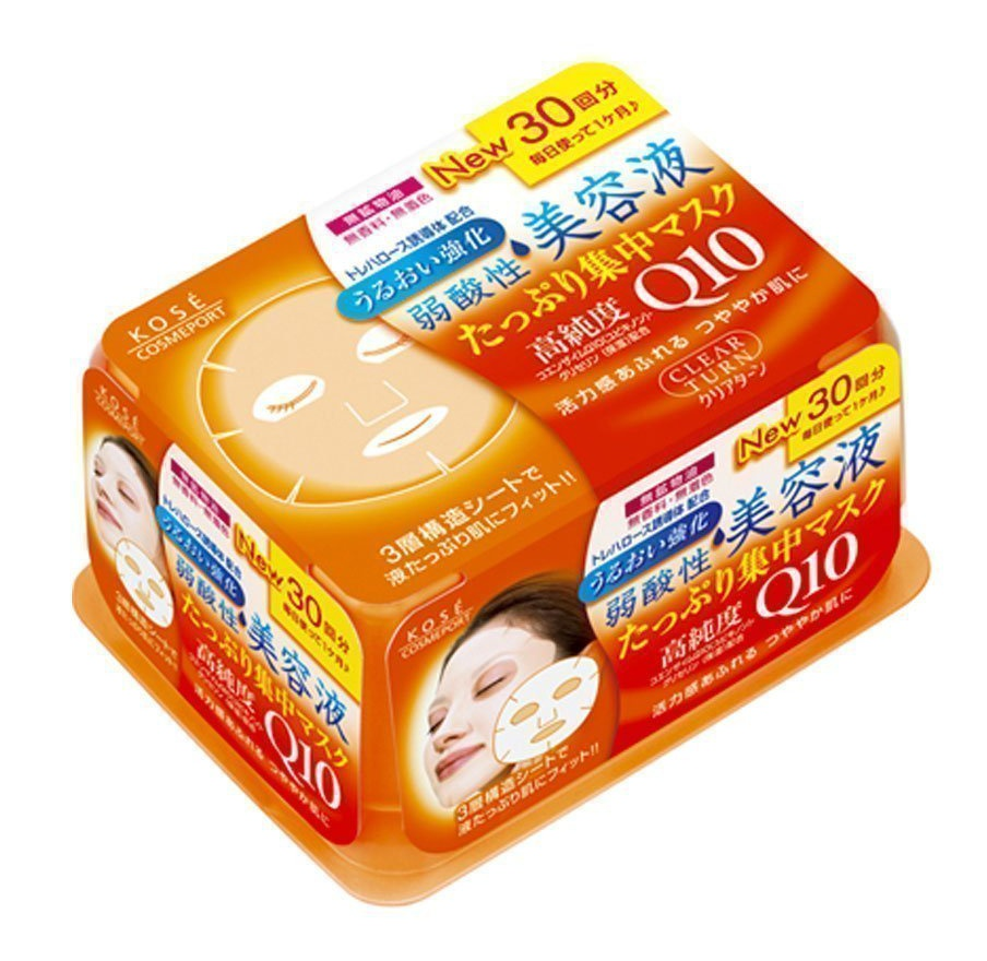 Kose Clear Turn Essence Coenzyme Q10 Facial Mask