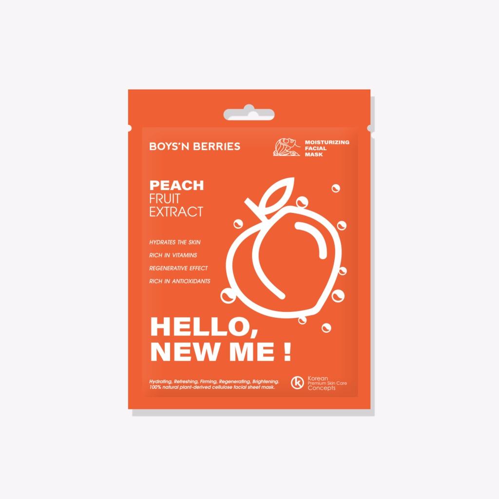 Boys'n berries Peach Fruit Extract  Facial Mask