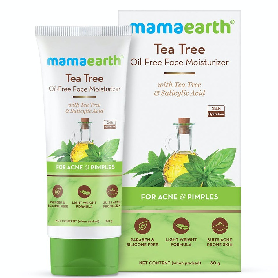 Mamaearth Tea Tree Oil-free Face Moisturizer With Tea Tree And Salicylic Acid For Acne And Pimples