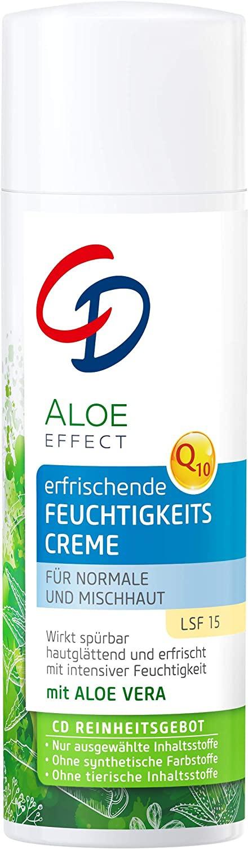 CD Aloe Effect Moisturising Day Cream With Q10 & Aloe Vera Spf 15