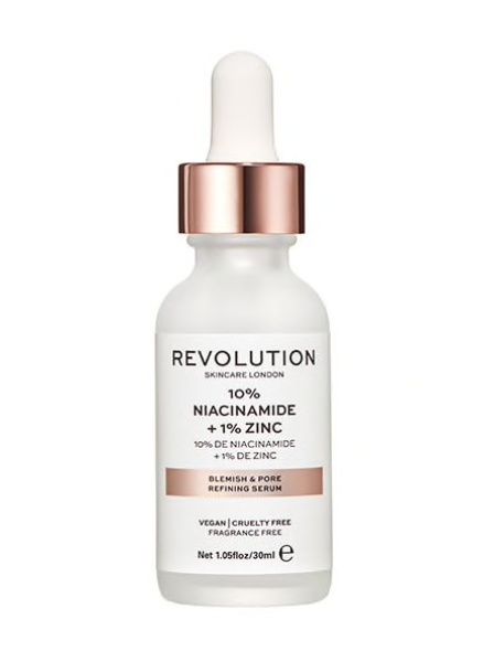 Revolution Blemish And Pore Refining Serum (10% Niacinamide + 1% Zinc)