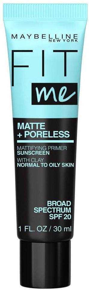 Maybelline New York Fit Me Matte + Poreless Mattifying Primer Sunscreen