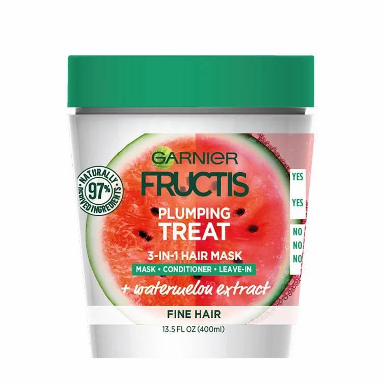 Garnier Fructis Plumping Treat 3-In-1 Hair Mask + Watermelon Extract